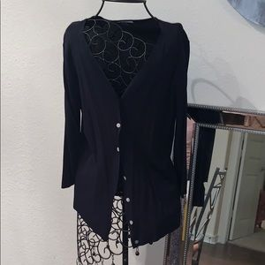 Black cardigan with mother of Pearl buttons